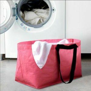 (2)IKEA SLUKIS Pink BreastCancer Shopping Bag Tote